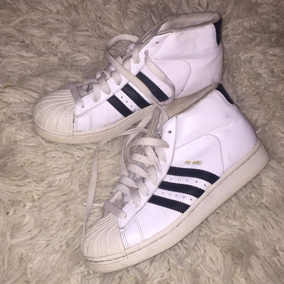 adidas superstar high top sneaker